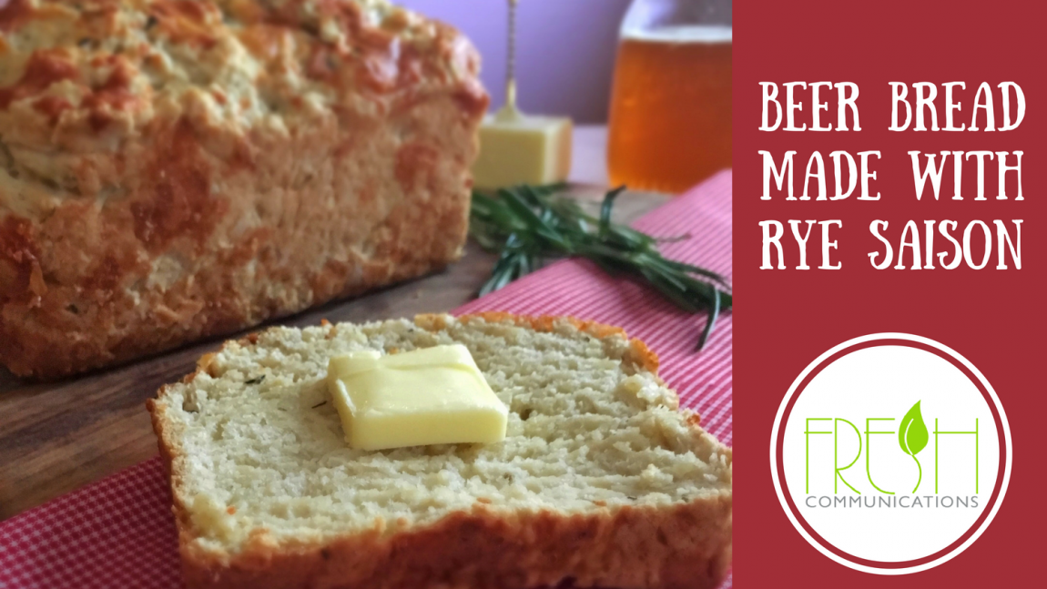 Cheddar & Herb Beer Bread Made with Rye Saison